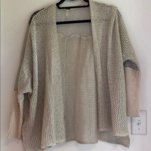 free people lace detailed cardigan XS